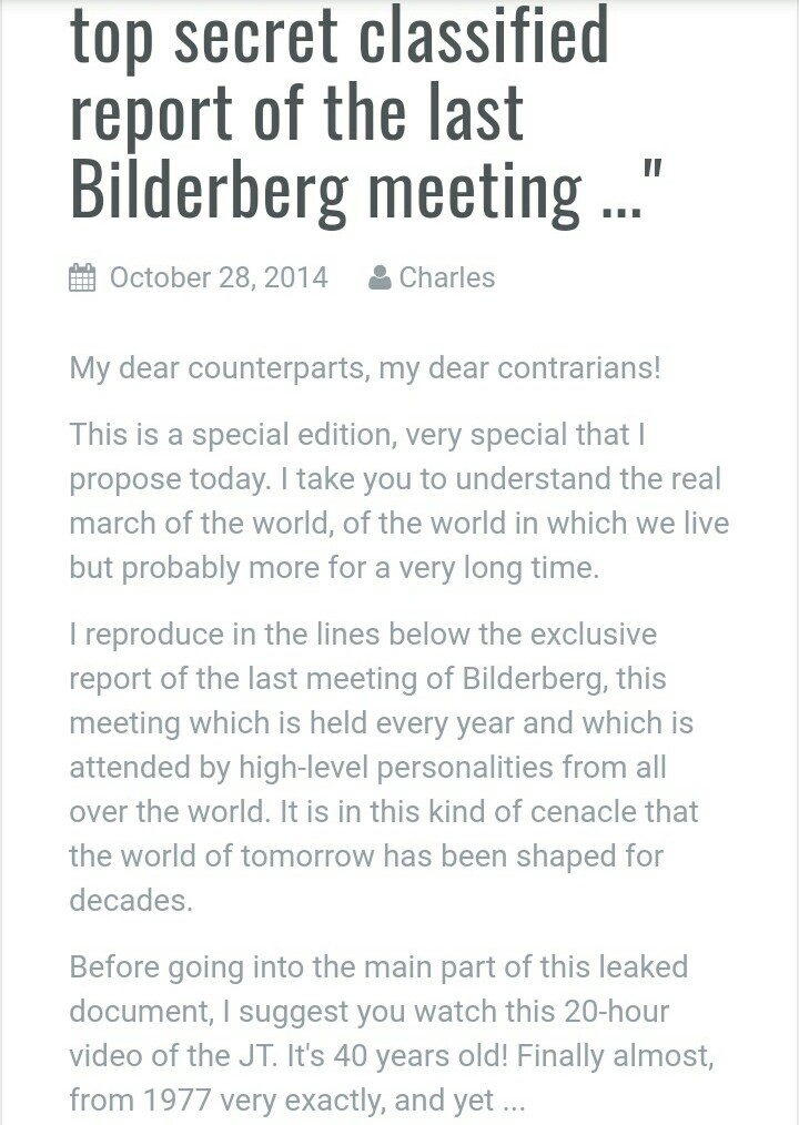 Leaked 2014 Bilderberg Meeting Closing Remarks